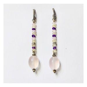 David Yurman Sterling 18k Gold Long Drop Earrings